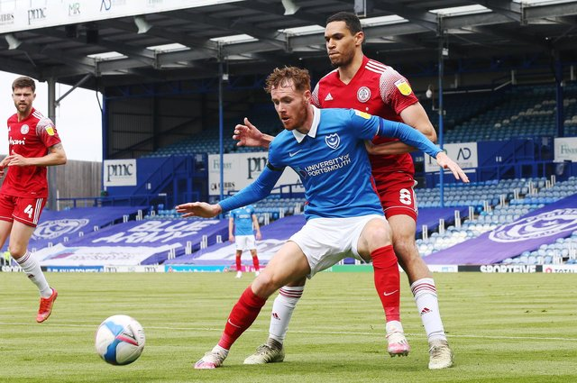Tom Naylor is among a quartet of out-of-contract Pompey players offered fresh deals since the season ended. Picture: Joe Pepler