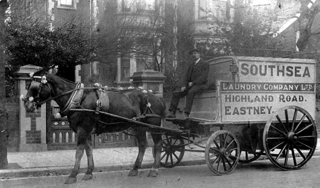 Southsea Laundry Company Ltd The weekly call by the laundry man long before dry cleaners. Picture: Courtesy of Bob Hind
