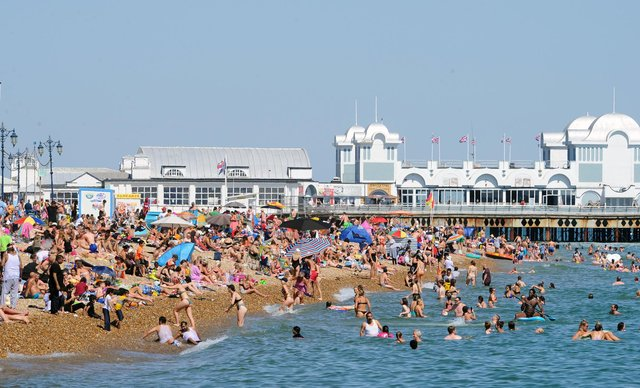 Pictures taken from the Hot Walls and Southsea seafront.  Picture: Sarah Standing (250620-5013)