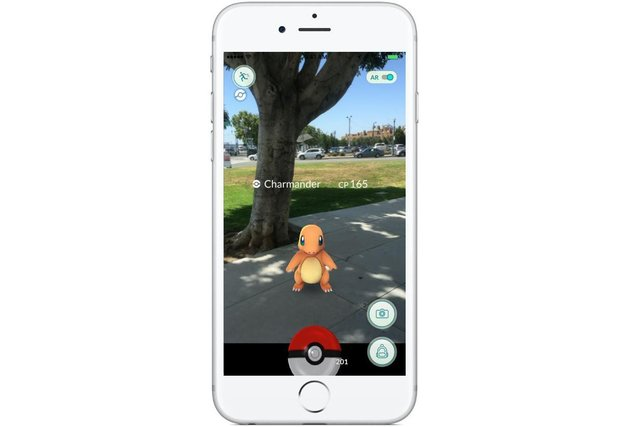 An iPhone showing Pokemon Go - the game everyone was playing in 2016