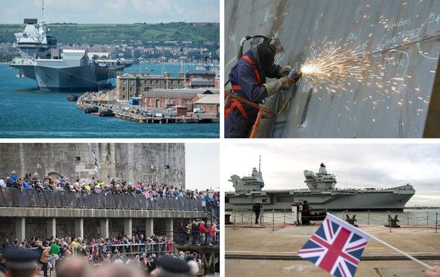 HMS Queen Elizabeth through the years