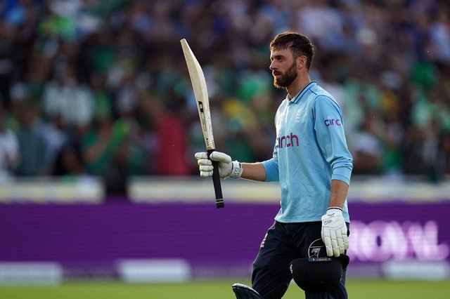 James Vince acknowledges the crowd as he leaves the pitch after hitting his maiden senior England international hundred during the third ODI against Pakistan at Edgbaston. Pic: Martin Rickett/PA Wire.