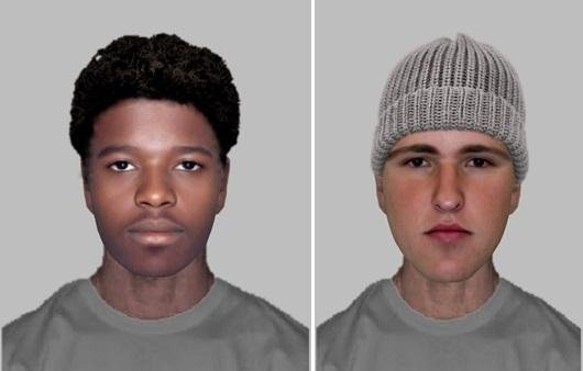 An e-fit of the suspects involved in the mobility scooter theft. Photo: Hampshire Constabulary