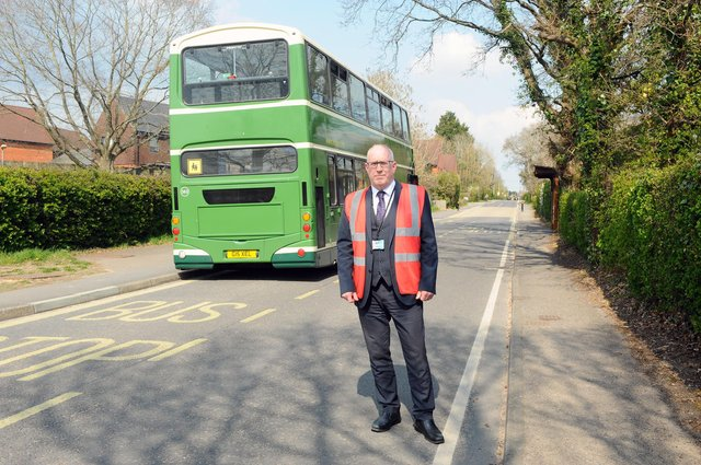 Headteacher Kyle Jonathan of Swanmore College is urging for a pelican crossing to put in outside the college in New Road, Swanmore, after several near misses over the years. Picture: Sarah Standing (200421-6937)