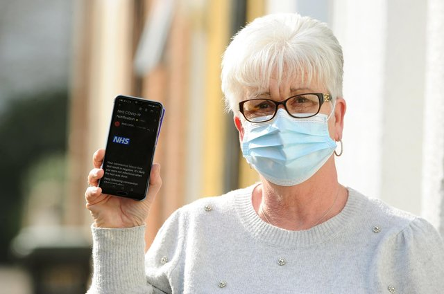 Lynn McLaughlin from Gosport, is still waiting to receive her Covid-19 test results after receiving someone else's   Picture: Sarah Standing (020321-1779)