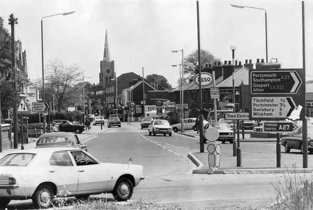 West Street in Fareham as seen in October 1974.