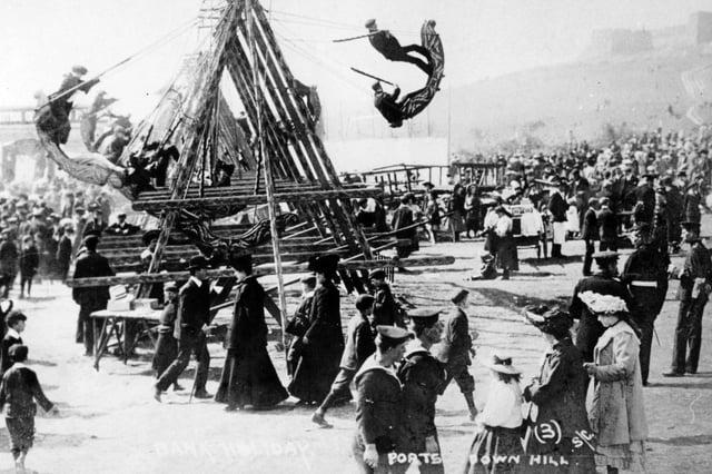 The annual Portsdown Hill Fair above Cosham in 1910. Picture: The News PP5634
