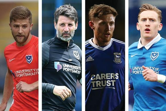 From left: Michael Jacobs, Danny Cowley, Teddy Bishop and Ronan Curtis