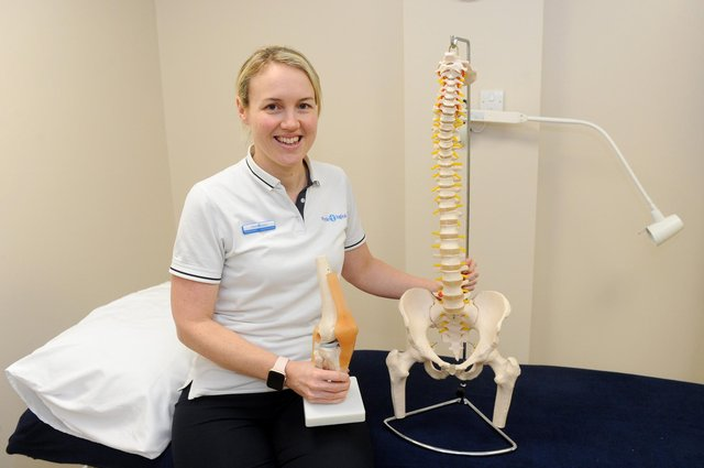 Physio-logical have opened uo their third clinic within Horndean Surgery on London Road, Horndean.Pictured is: Natalie March, owner of Physio-logical.Picture: Sarah Standing (030320-9465)