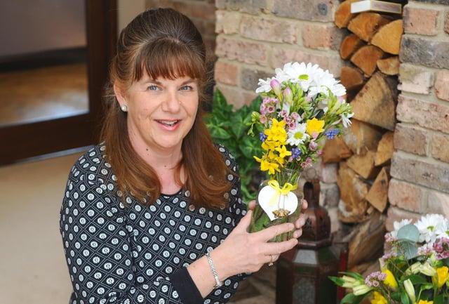 Caroline Skeet (53) from Langstone, set up Poppy's Posies in January 2021.Picture: Sarah Standing (020421-5982)