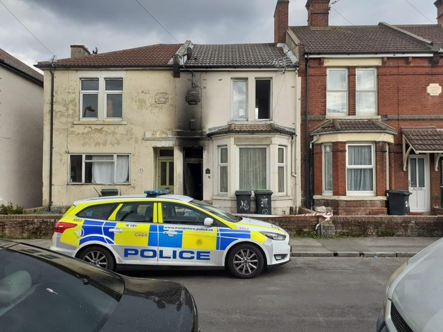 Police are investigating a suspected arson attack on a house in Parnham Road Gosport.