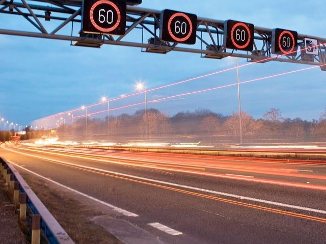 Here is what a smart motorway looks like