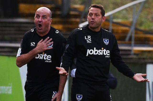 Former Pompey boss Paul Cook alongside Leam Richardson. Picture: Joe Pepler