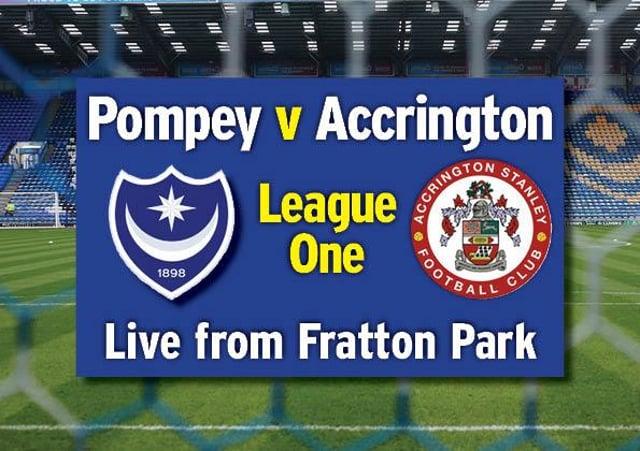 Pompey entertain Accrington on the final day of the season at Fratton Park