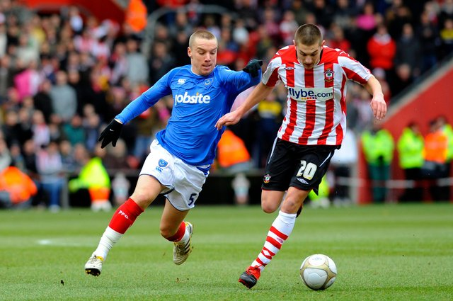 Jamie O'Hara, pictured in Pompey's FA Cup 4-1 thumping of Southampton in February 2010, is keen to become a Fratton Park coach. Picture: Allan Hutchings