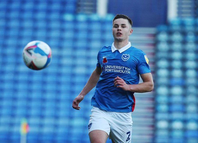 Callum Johnson made 46 appearances for Pompey last season - but now faces competition from Kieron Freeman. Picture: Joe Pepler