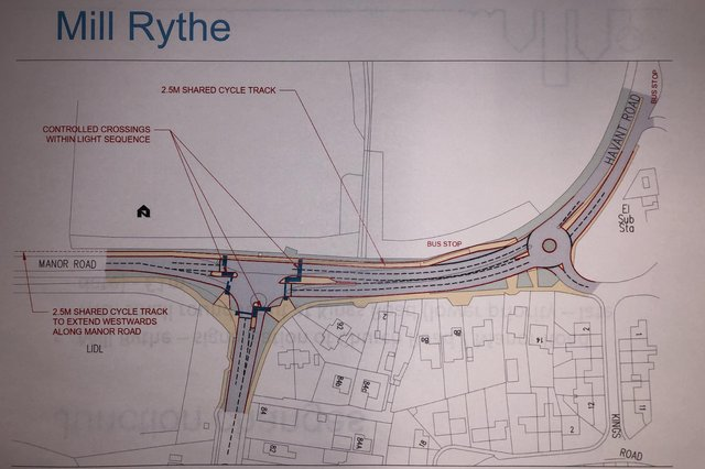 Havant Borough Council's proposed changes at Mill Rythe as part of the £6.4m Hayling Island Transport Assessment.