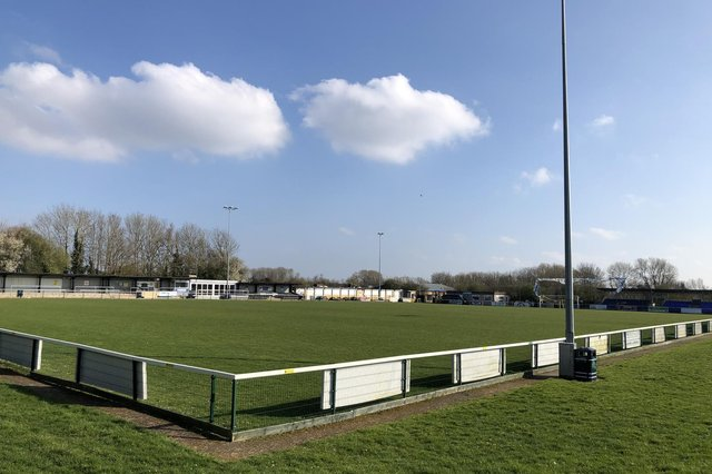 AFC Portchester would use a £25,000 Buildbase windfall to make stadium improvements at The Crest Finance Stadium and create a memorial garden area. Pic: Graeme Moir.
