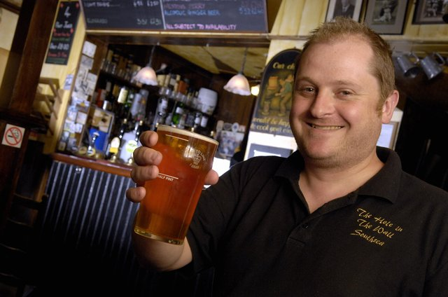 Hole in the Wall publican Jonathan McKerracher  PICTURE: WILL CADDY