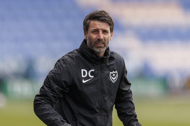 Pompey head coach Danny Cowley.  Picture:  Daniel Chesterton
