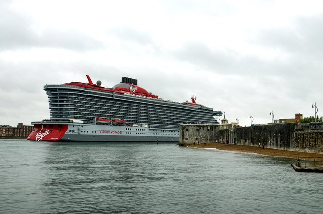 The Virgin cruise ship Scarlet Lady arriving in Portsmouth taken by Daniel Haswell