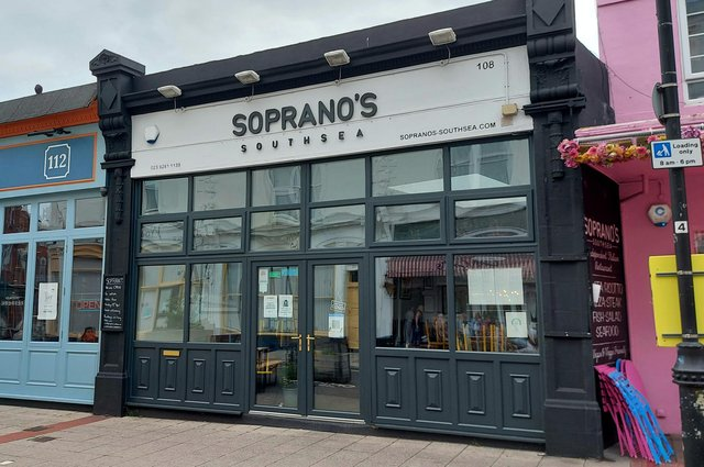 Soprano's at Palmerston Road, Southsea.