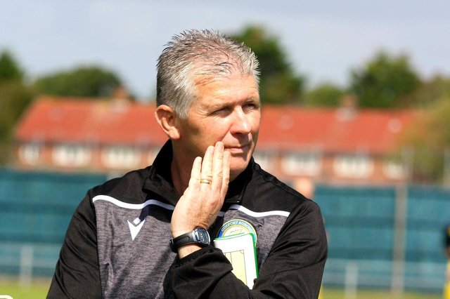 Happy to help US Portsmouth - Gosport Borough boss Shaun Gale. Pic: Tom Phillips.