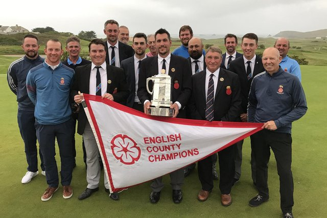 The highlight of David Wheeler's time as Hampshire Golf secretary was when the senior side won the 2017 English County Championship after beating Staffordshire 6-3 at Trevose, Cornwall.