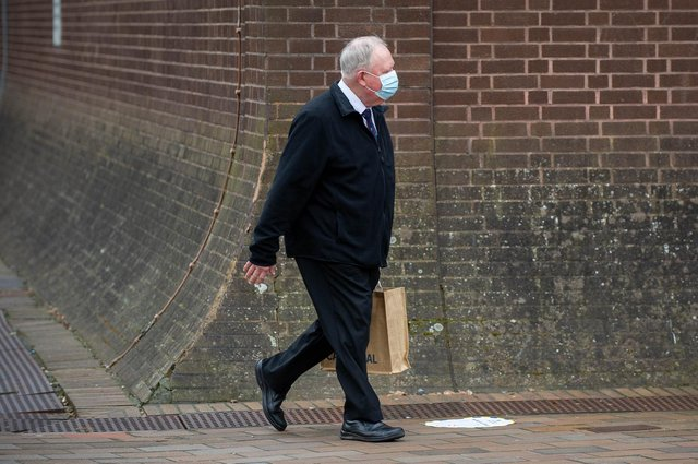 Former choirmaster Mark Burgess, 67, of St Chad's Avenue, Hilsea, is on trial at Portsmouth Crown Court accused of 52 child sex offences on 16 March 2021. Picture: Habibur Rahman