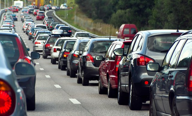 A file photo of a traffic jam