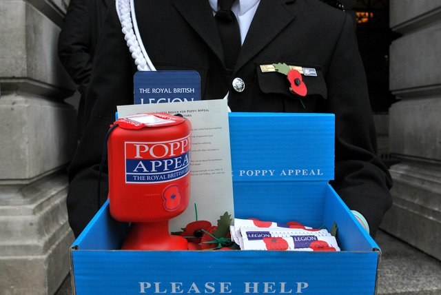 A Royal British Legion poppy seller. Picture: Lewis Stickley/PA Wire