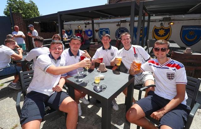 England Fans watching England V Croatia at The Shepherds Crook pub. Picture: Stuart Martin (220421-7042)