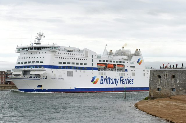 Brittany Ferries' Mont St Michel leaves Portsmouth on May 9  Picture: Simon Czapp/Solent News & Photo Agency