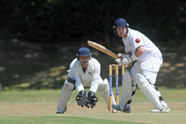 Chris Mottola was dismissed two short of his century for Sarisbury Athletic. Picture Ian Hargreaves