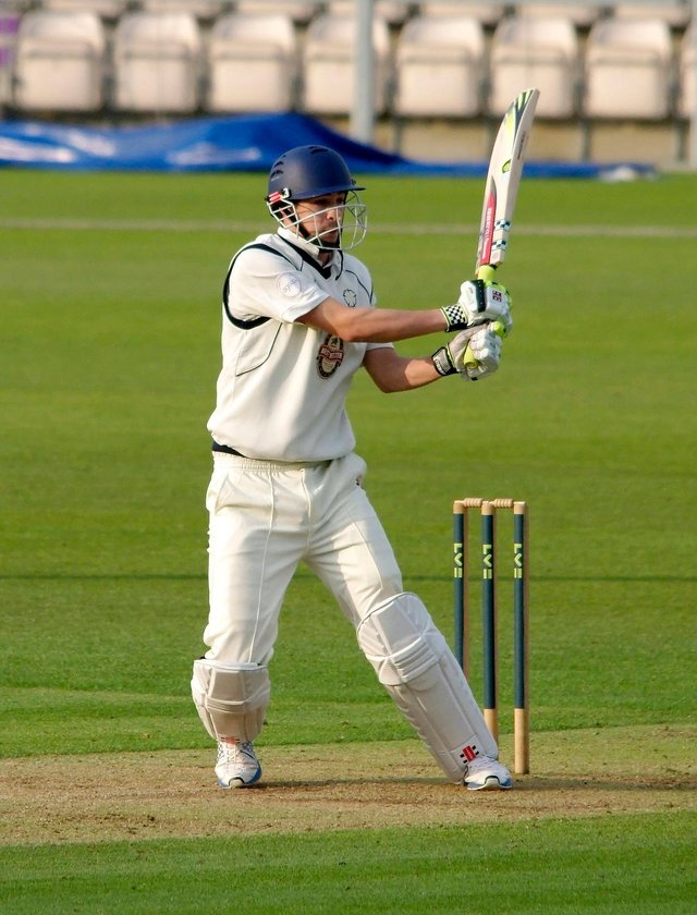 Chris Wood scored a career best 105 not out in a stunning last-wicket stand with David Balcombe at Grace Road in 2012, but Hampshire still lost a Division 2 Championship game to Leicestershire by 126 runs. Picture: Neil Marshall