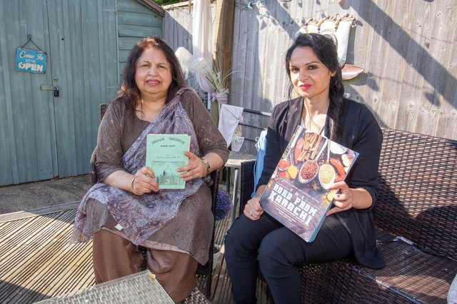 Khalida and Riaz Arab decided to run an Indian cookery school in Portsmouth. They made a cookery book in 1987 that was lost over the years but now has been brought back to life by her daughter, Nadia Arab. Picture: Habibur Rahman