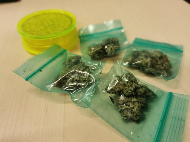Gosport police have defended spending time uncovering a small stash of cannabis as being important in efforts to tackle serious criminality. Picture: Hampshire Constabulary