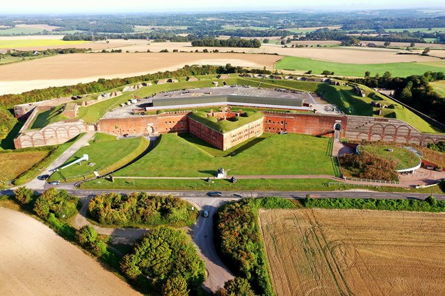 Aerial view of Fort Nelson. Picture: Cunning Running Software Ltd