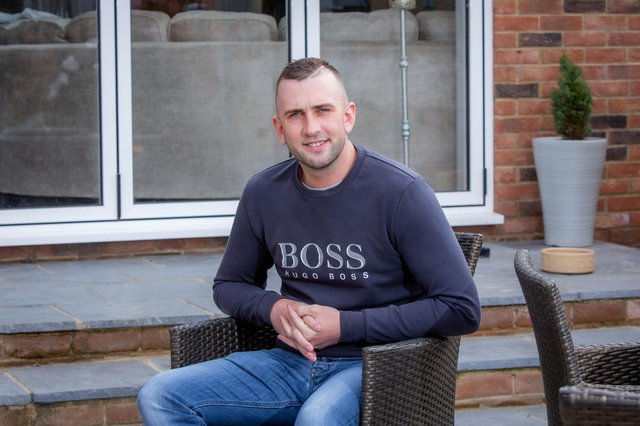 Stubbington man Jamie Roe had a bleed on the brain after having the AstraZeneca vaccine and had to learn to walk againPictured: Jamie Roe at his home in Stubbington, Fareham on 30 April 2021Picture: Habibur Rahman