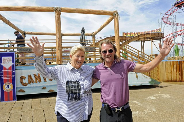 James and Jill Norman, the owners of Clarence Pier Picture Ian Hargreaves (180720-5)
