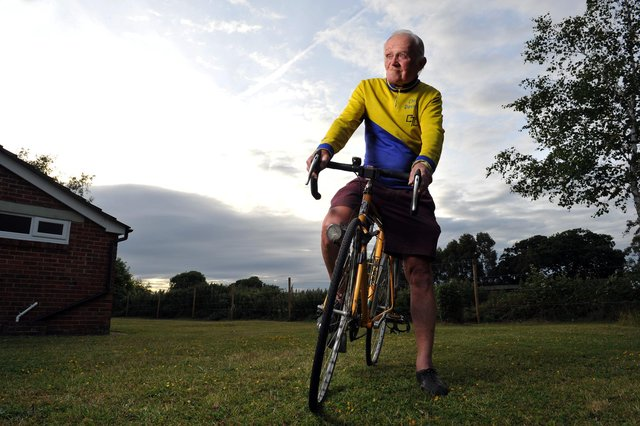 Chris Davies cycled more than 900,000 miles in his lifetime. Picture: Steve Reid