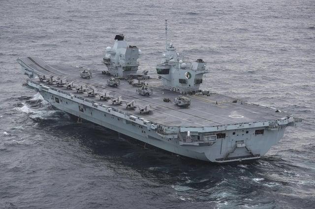 HMS Queen Elizabeth Picture: LPhot Belinda Alker