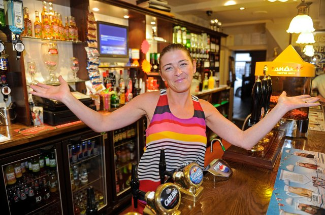 Inside The Brewers Arms pub in Milton in 2012. Pictured: Jo Clarke-Johnstone who is the landlady. Picture: Ian Hargreaves  (122917-3)