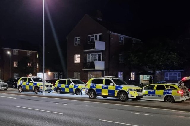 Armed police and firefighters were called to an incident off Eastern Road, Portsmouth, in Eastern Avenue near the Good Companion pub. Picture: Stuart Vaizey