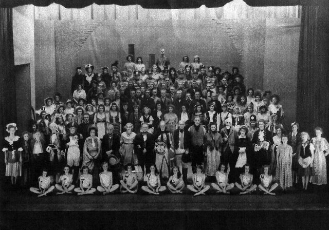The Portsea Island Mutual Co-operative Society's centenary pageant at the Kings Theatre, Southsea, in 1944.