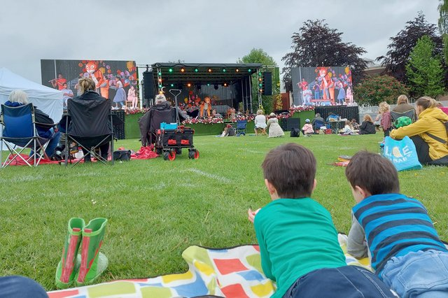 Watching Never Tickle a Tiger at Family Fun in The Park by Chichester Festival Theatre. Picture: Chris Broom