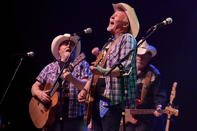 Los Pacaminos play their first post-Covid show at the Portsmouth Guildhall Photo: Vernon Nash