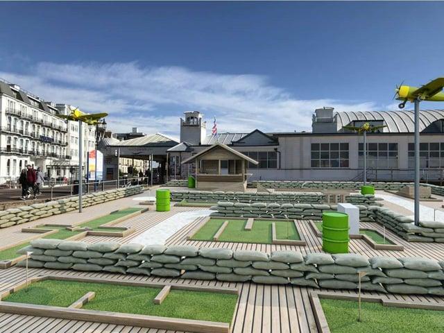 The proposed crazy golf club at the beach off South Parade Pier. Picture: South Parade Pier/Chris Flint Associates Ltd