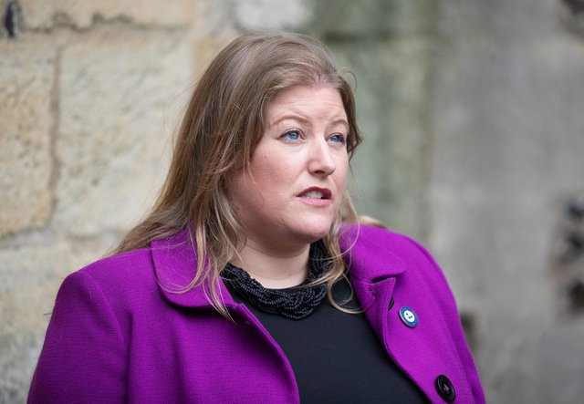 Police and crime commissioner for Hampshire, Donna Jones, talks to media during a walkabout in Winchester. Picture date: Thursday May 13, 2021. Picture: Andrew Matthews/PA Wire