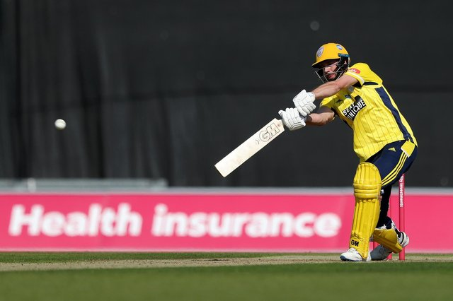 James Vince scored his second T20 century for Hampshire against Sussex. Photo by Naomi Baker/Getty Images.